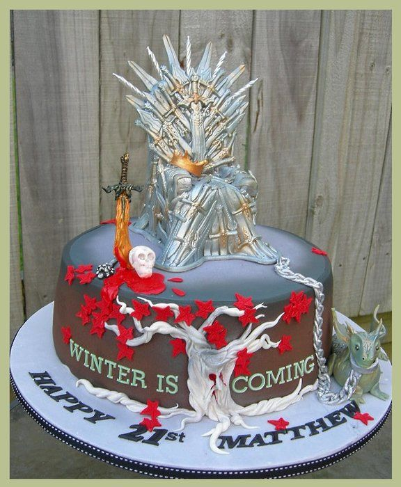 Game of Thrones Cake - by MelSugarMama @ CakesDecor.com - cake decorating website