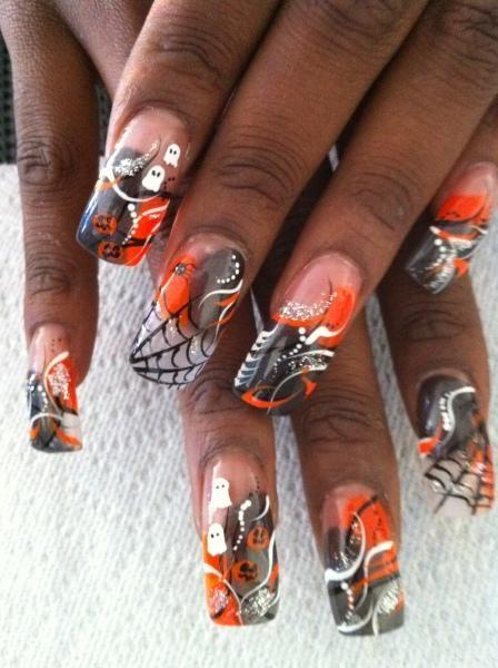 halloween diy nail designs