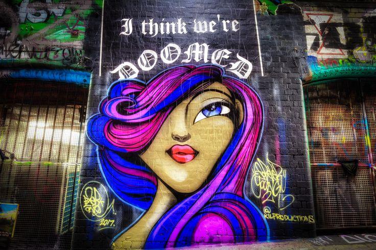 Doomed - Street art in Hosier Lane | March 2017