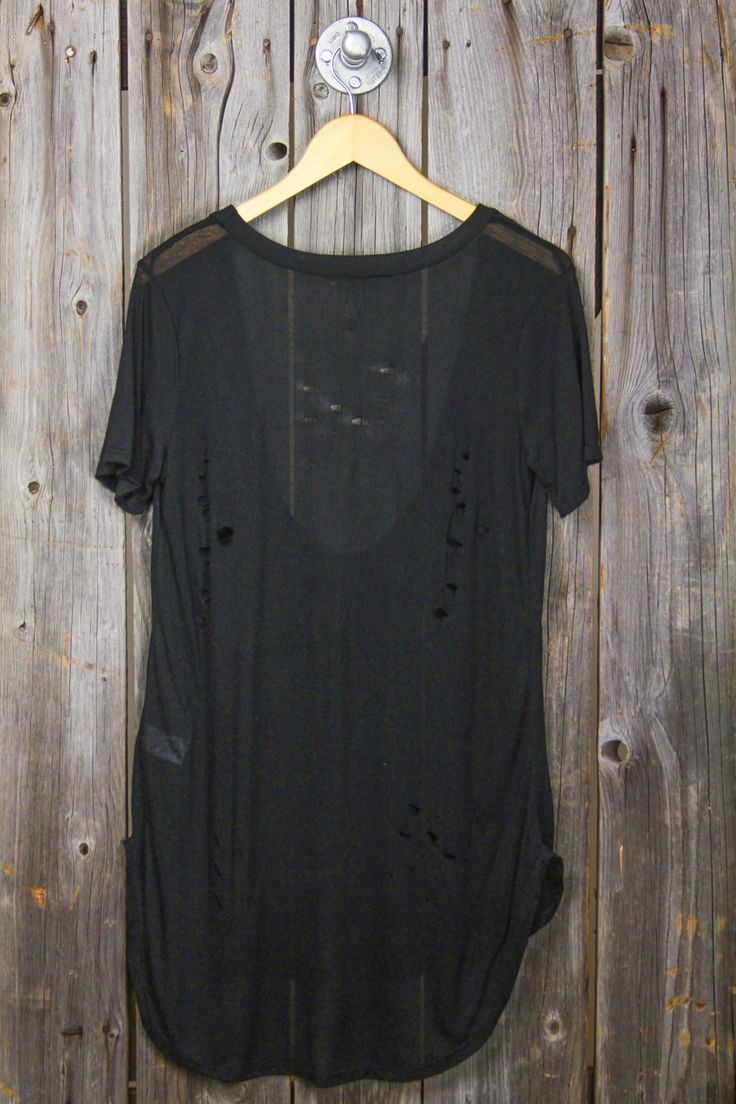 Holey Super Low Scoop Tissue Tee - Black. Great beach cover up.