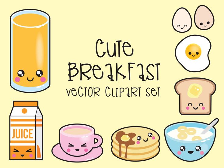 Premium Vector Clipart - Kawaii Breakfast Clipart - Kawaii Food Clip art Set - High Quality Vectors - Instant Download - Kawaii Clipart by LookLookPrettyPaper on Etsy https://www.etsy.com/listing/245538695/premium-vector-clipart-kawaii-breakfast