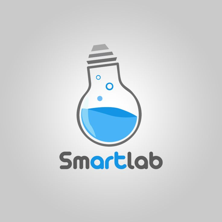 Using a light bulb to represent an idea and 'Smart' thinking and having it act as a test tube which is found in a lab, the connection from this symbol to the name is very easy to make. Great logo.