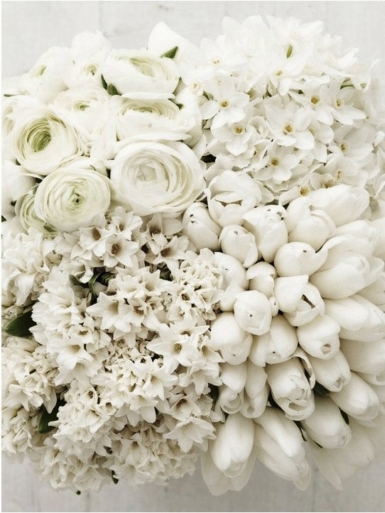 White rose and tulip bouquet .·:*¨¨*:·.Blanc.·:*¨¨*:·.