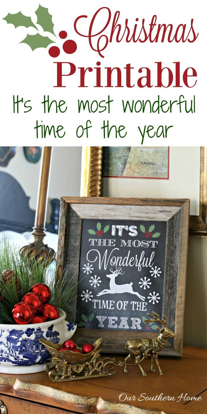 It's the most wonderful time of the year FREE printable perfect for gift giving by Our Southern Home @oursouthernhome