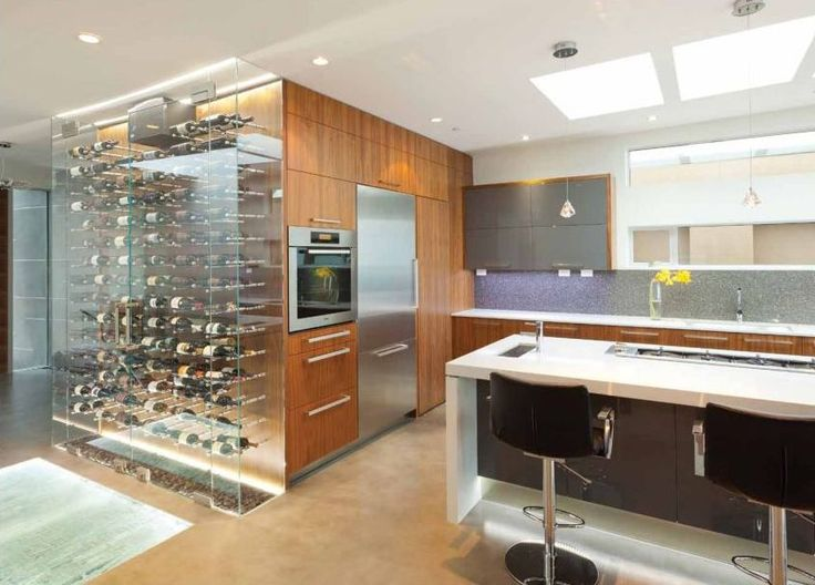 #kitchen of the day - The Wave House: Unique wine storage