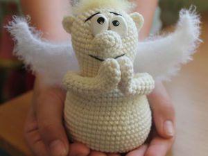 Вяжем крючком обаятельного ангела с мягкими крыльями | Ярмарка Мастеров - ручная работа, handmade