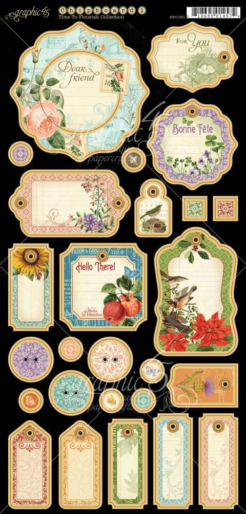 Graphic.45.Time.To.Flourish.-.Calendar.-.33.of.36.-.Journaling.Chipboard