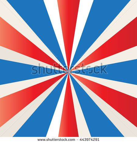 4th of July Independence Day patriotic background. 4th of July Red and white, blue color of American flag. 4th of July fireworks. Vector Illustration.