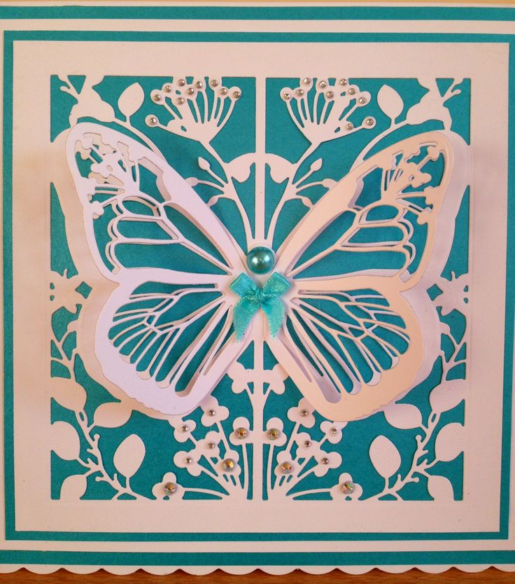 card made using couture mariposa dies