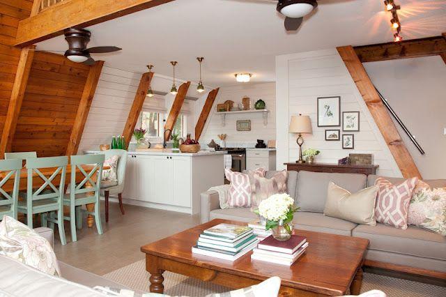 A-frame cottage makeover