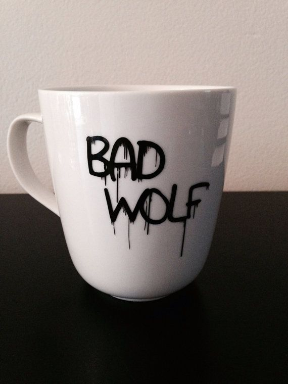 Doctor Who Bad Wolf coffee mug von SimplyGlassic auf Etsy