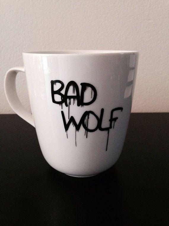 Doctor Who Bad Wolf coffee mug von SimplyGlassic auf Etsy