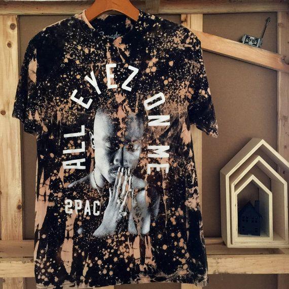 Custom His/Hers Tupac shirt Sz M by HausOfChapo on Etsy