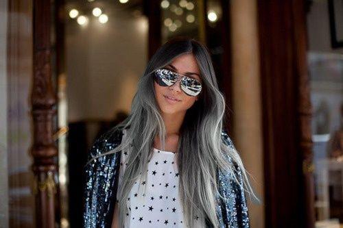 Mechas californianas pelo blanco