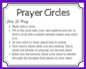free printable prayer cards for using mandalas in prayer