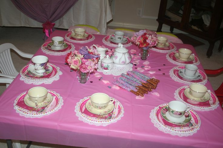 Tea party ideas, little hands eating little tea cakes! How adorable! Love the idea of going to a thrift store and getting mismatched china for girls to use for play!
