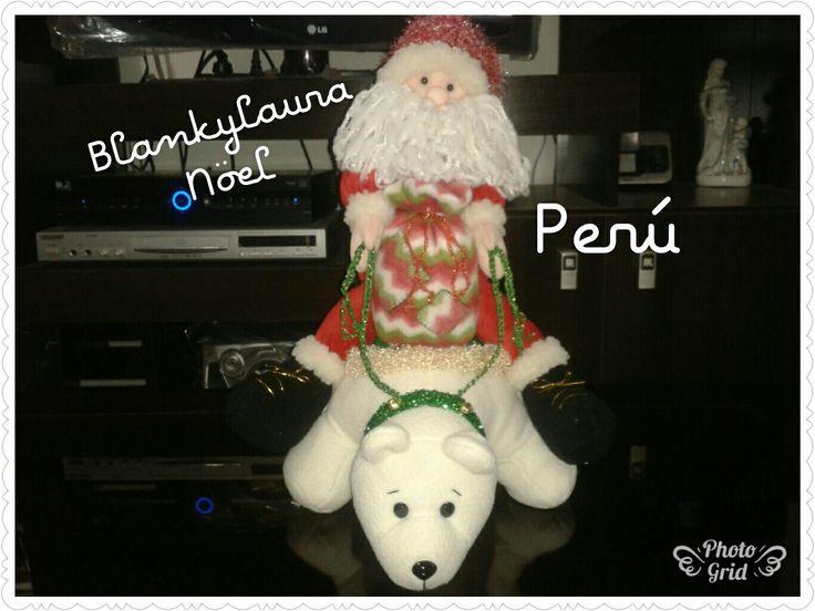 Santa en su oso polar