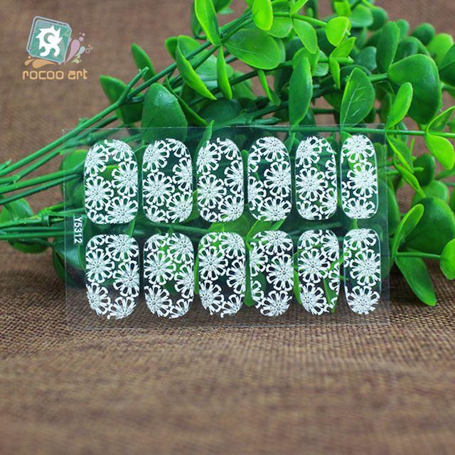 Y5312 5335 Ультратонких Прозрачный Французский Наклейки на Ногти Кружева Клей Nail Art Наклейки Белые Цветы Декор Ногтей Обертывания Наклейки купить на AliExpress