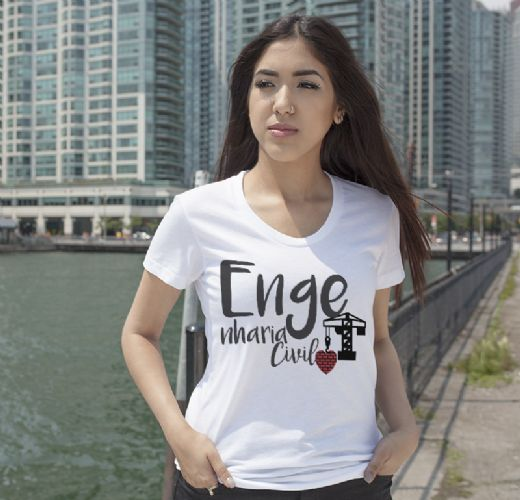 T-Shirt Feminina - Curso Engenharia Civil - Foto