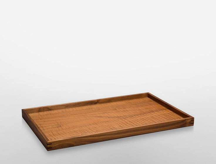 pitch large tray in black walnut   Calvin Klein