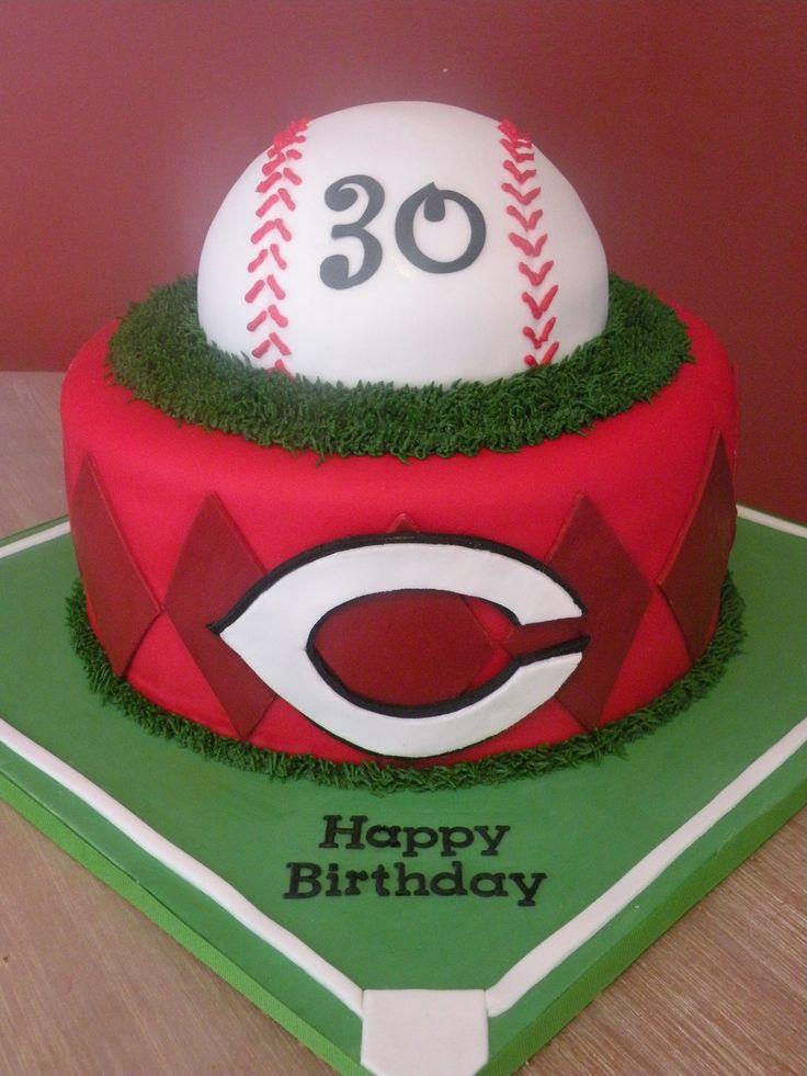 Cincinnati Reds baseball - Cincinnati Reds baseball cake
