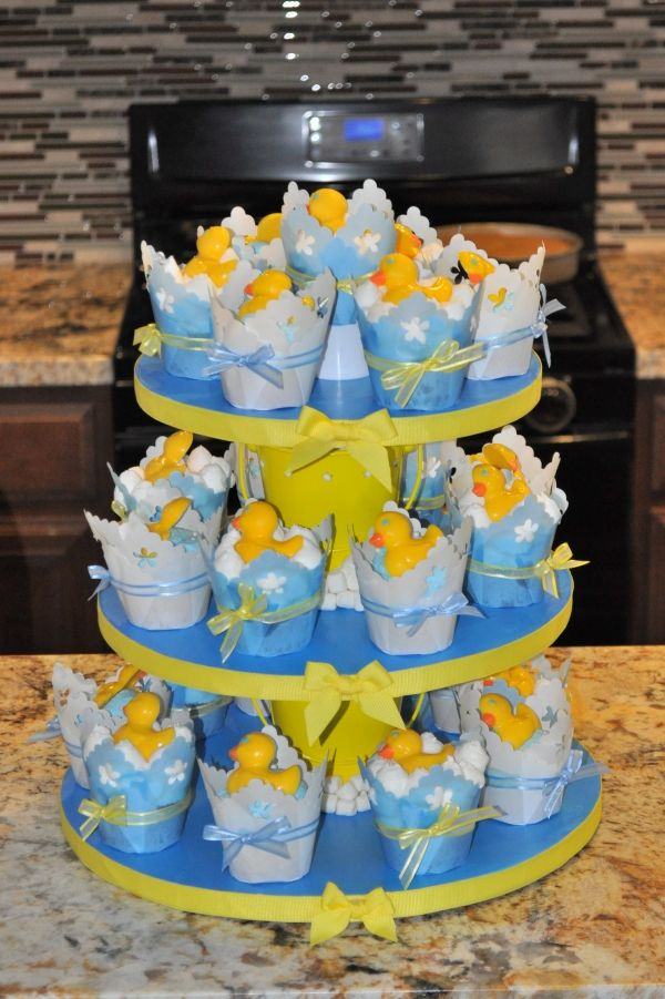 Rubber Ducky Cupcakes for baby shower