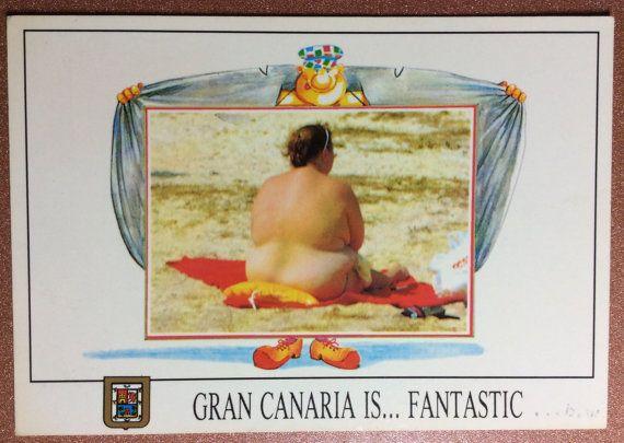 Spanish Nu photo postcard. Man Exhibitionist. by JustSweetHoney