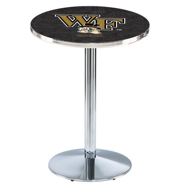 "Wake Forest Demon Deacons 42"" Round Foot Chrome Pub Table - $449.99"