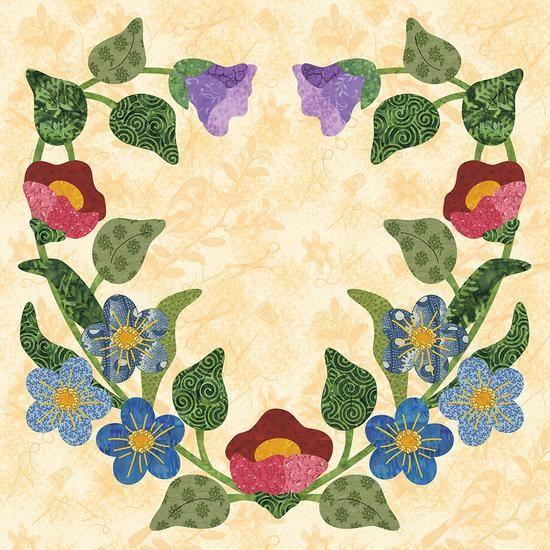 Block #6 Heart Wreath