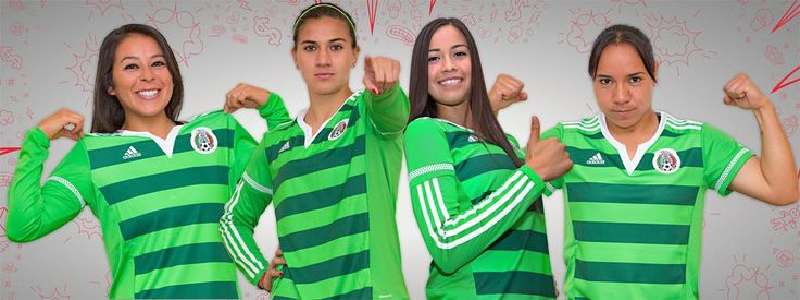 El día de hoy presentaron el jersey que usará en el mundial  la selección nacional de futbol femenil #mexico #tri