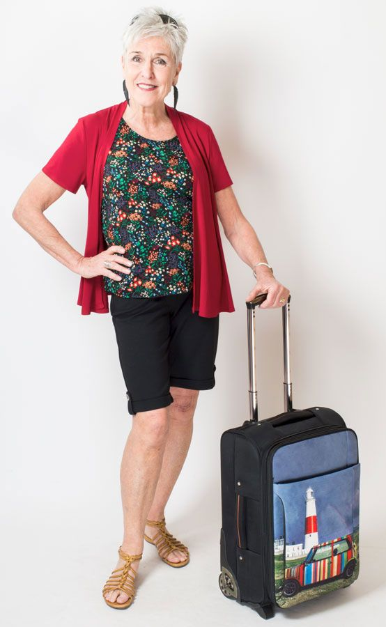 I wish I looked that good going to the airport! Good thing bamboo clothing is so soft! XXS-4X Blue Sky Clothing Co