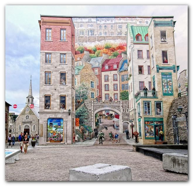 8 best images about quebec city fun on pinterest canada for Mural quebec city