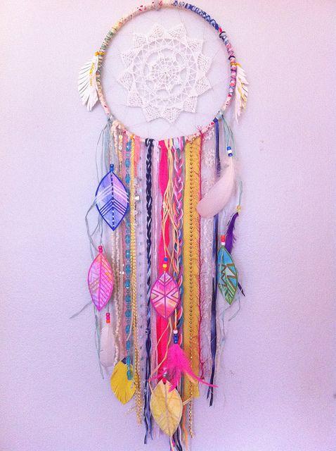 #neon #dreamcatcher by rachael rice http://rachaelrice.com/art/custom-orders/