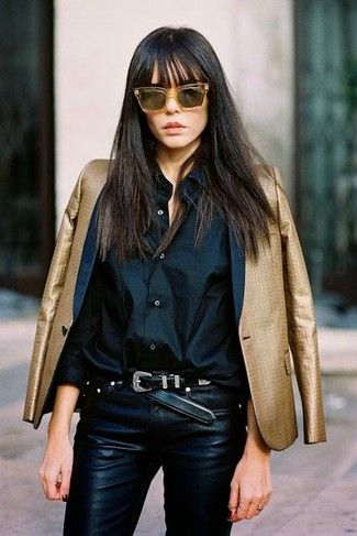 Cómo combinar una camisa negra en 2016 (463 formas)   Moda para Mujer