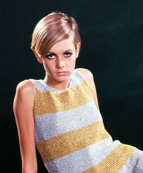 Twiggy in Silver and Gold Metallic Knit