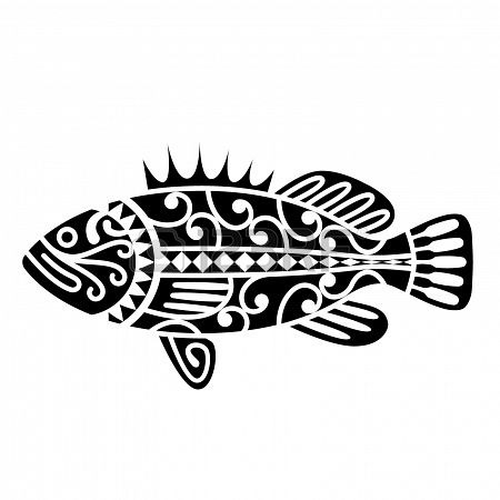 A fish inspired by Maori tribal tattoos