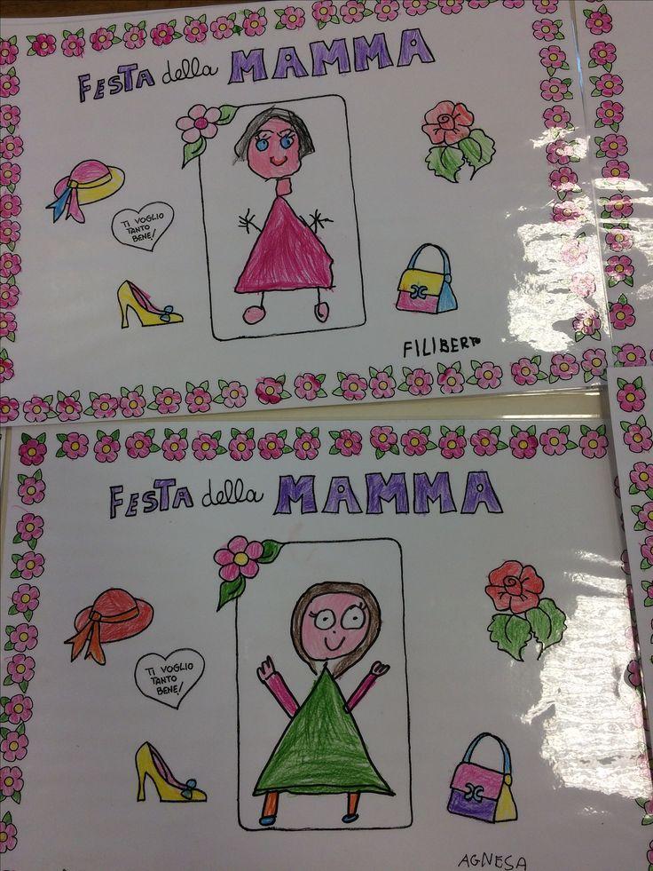 Lavoretto per Festa  della Mamma:Tovaglietta. Bambini 5 anni.