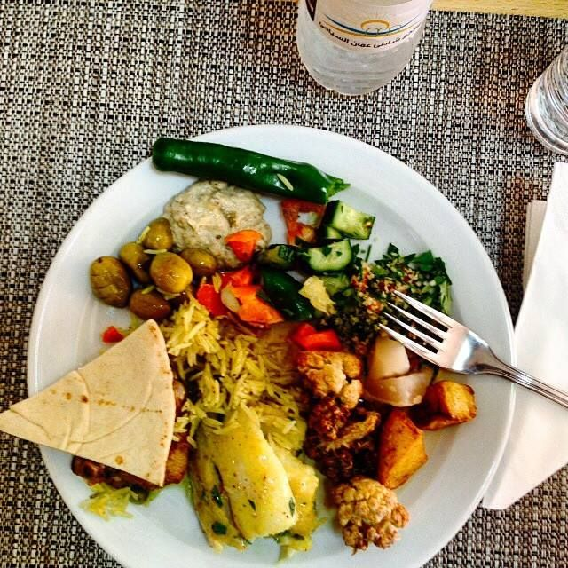 Delicious lunch at the #DeadSea. #TravelAdventurer #travel #Jordan #GrabYourDream #FoodPhotography