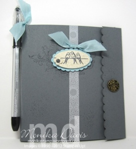 how to make a covered notepad
