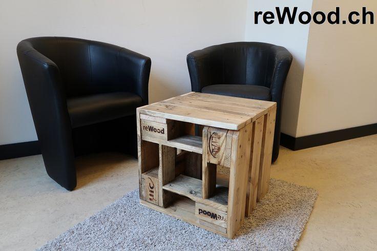 Cube von reWood //  Kleiner Sofatisch oder Hocker // Als Sitzecke kombinierbar.  // Palettenmöbel aus der Schweiz, Bern, Biel // marcorothphotography.ch