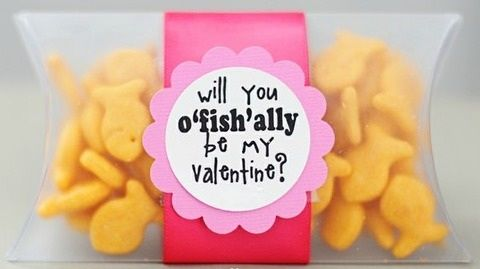 valentines!: Valentines Ideas, For Kids, Cute Ideas, O' Fish, Valentine'S S, Valentines Gifts, Valentines Day, Valentines Treats, Goldfish Crackers