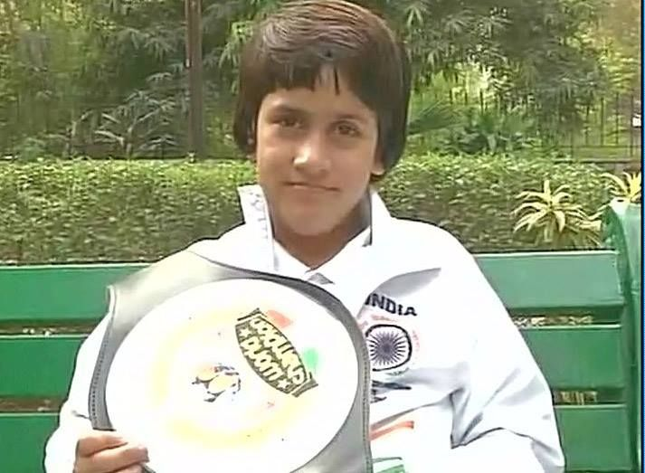8 year old Kashmiri girl Tajamul Islam wins gold at World Kickboxing Championship of under-eight players in Italy's Andria.