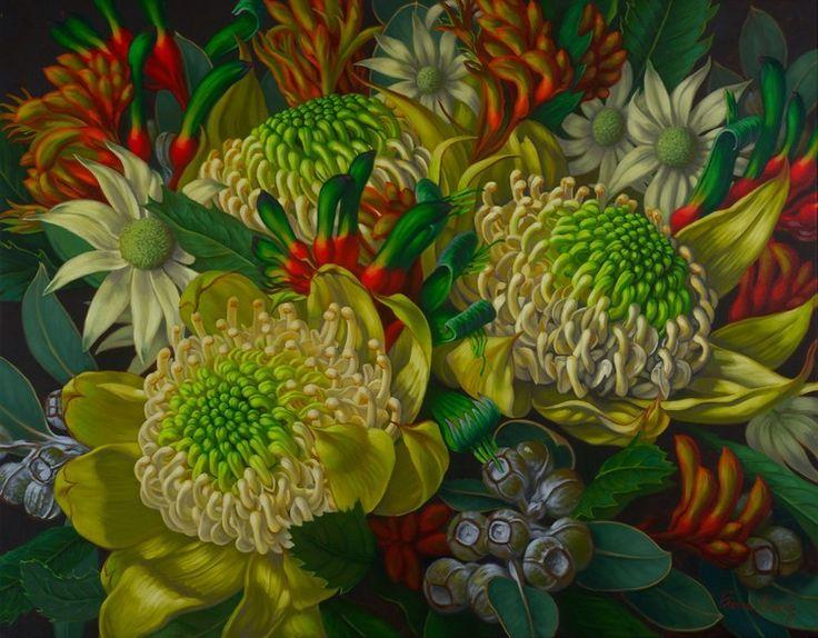 #13840 Fiona Craig 'Waratahs, Flannel Flowers & Kangaroo Paws 106cm x 137cm $7,900.jpg