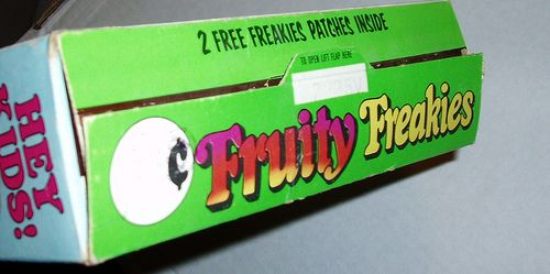 Fruity Freakies cereal box