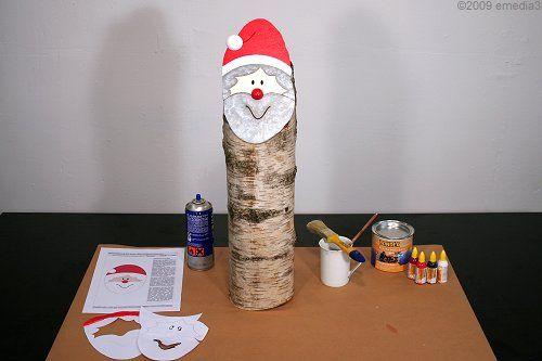 DIY-Bauanleitung für einen Baumstamm-Nikolaus