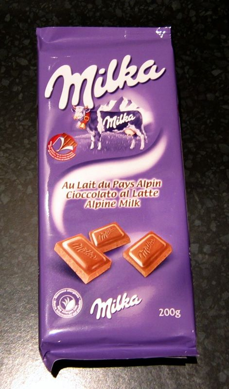 Milka chocolate.  Probably the creamiest chocolate I have EVER tasted.