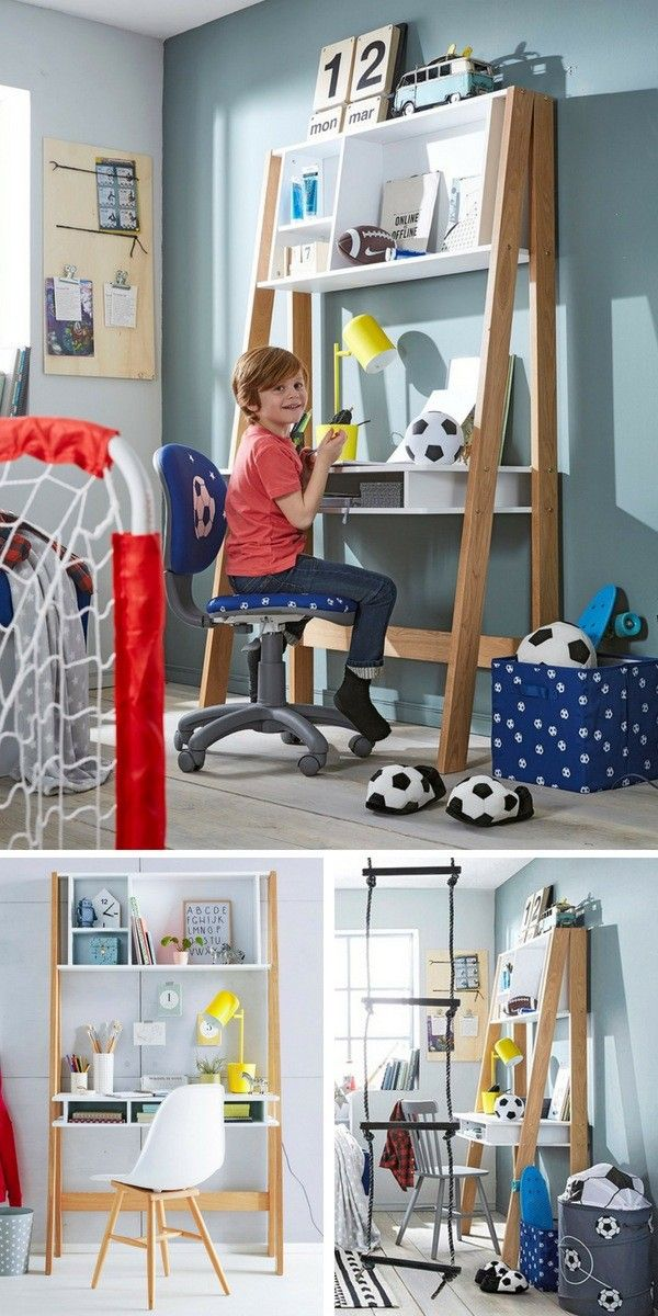 6 exemples de coin bureau enfant pratique d co cr atif sp cial primaire chambre enfants. Black Bedroom Furniture Sets. Home Design Ideas