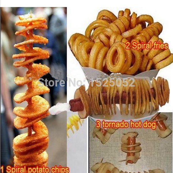 HOT SALE!!! potato chips/tornado potato cutter/spiral potato chips cutting machine