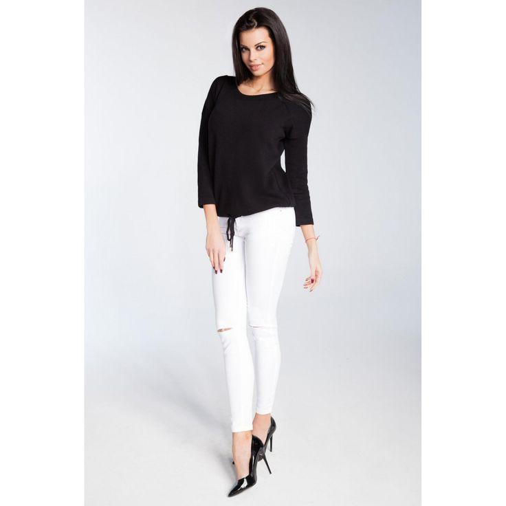 Bluza de dama neagra cu maneci lungi 119.90 RON  #bluzacasual #HaineCasualdama #tinutasmartcasual