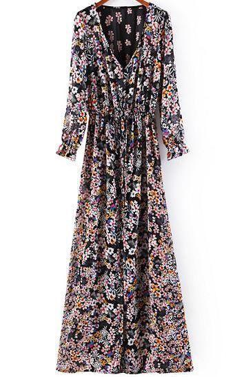 Çiçek Desenli Uzun Elbise Çiçek Desenli Uzun Elbise Elbise En Trend Elbiseler 95,00 TL